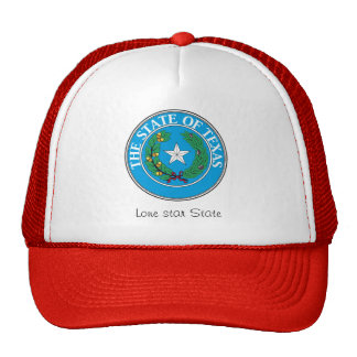 Texas State Seal and Motto Mesh Hat