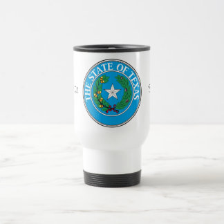 Texas State Seal and Motto Travel Mug