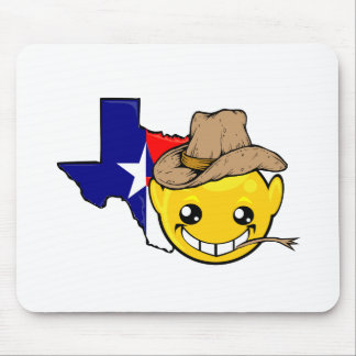 texas state smiley face mouse pad