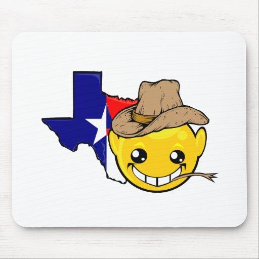 texas state smiley face mousepad