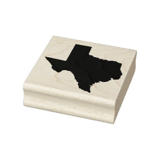 Texas State Solid Rubber Art Stamp
