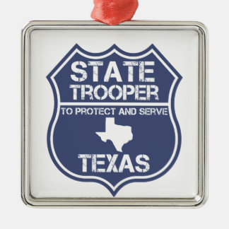 Texas State Trooper To Protect And Serve Christmas Ornament