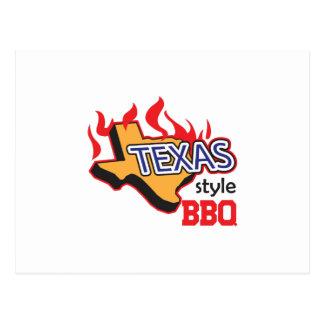TEXAS STYLE BBQ POSTCARD