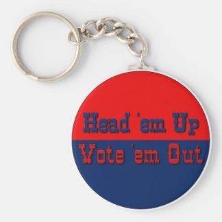 Texas style politics 2 keychains