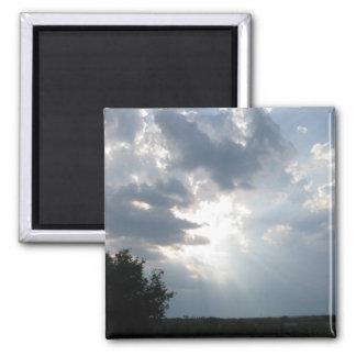 Texas Sunbeams Square Magnet