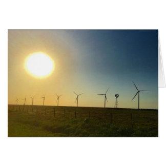 texas sunset notecard