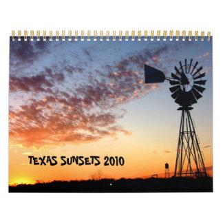 Texas Sunsets Calendar 2010