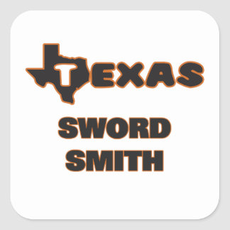 Texas Sword Smith Square Sticker
