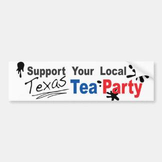 Texas Tea Party Bumper Sticker- Ironic