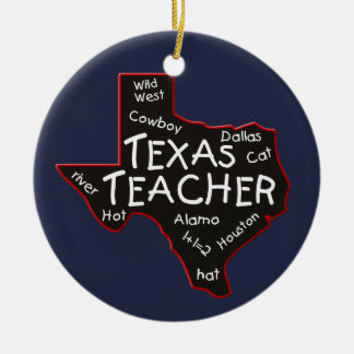 Texas Teacher Christmas Ornament