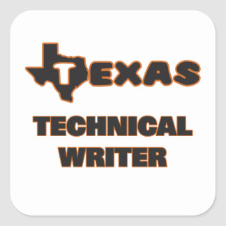 Texas Technical Writer Square Sticker