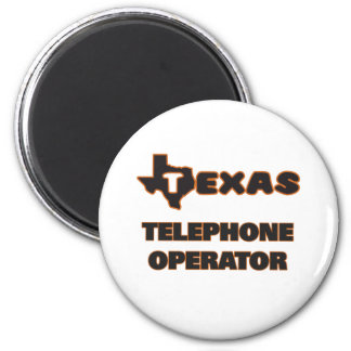 Texas Telephone Operator 2 Inch Round Magnet
