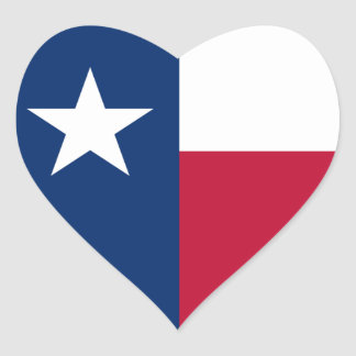 Texas/Texan State Flag, United States Heart Stickers