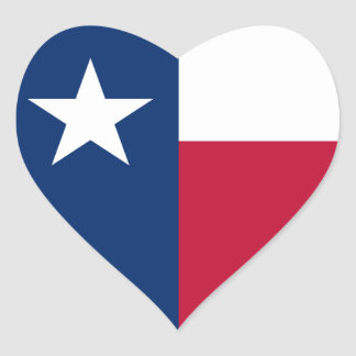 Texas/Texan State Heart Flag, United States Stickers