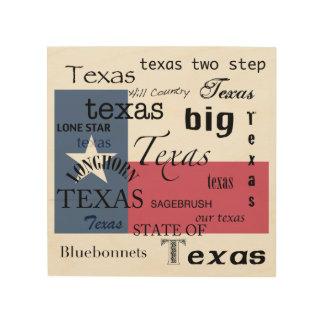 Texas Text Design-with Texas Flag Wood Wall Decor
