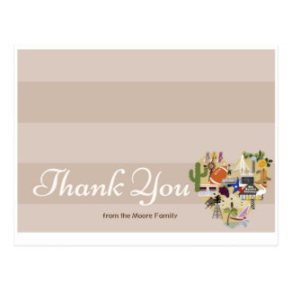 Texas Thank You Postcard for Weddings/Baby Shower