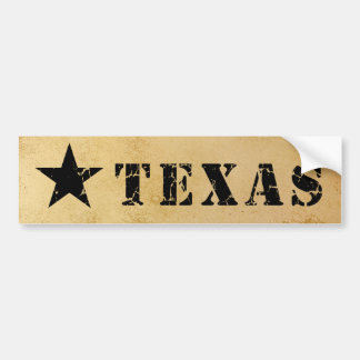 Texas, the Lone Star State Bumper Sticker