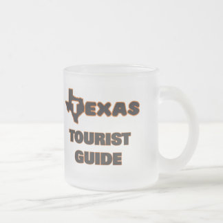 Texas Tourist Guide Frosted Glass Mug
