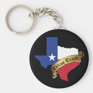 Texas Trash Keychain