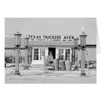 Texas Truck Stop, 1939 Greeting Card