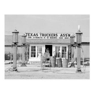 Texas Truck Stop, 1939 Postcard