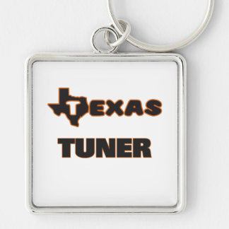 Texas Tuner Silver-Colored Square Keychain