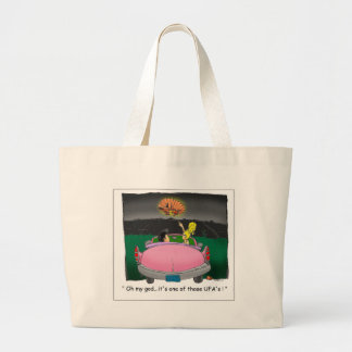 Texas UFO? Funny Tees, Gifts & Collectibles Large Tote Bag