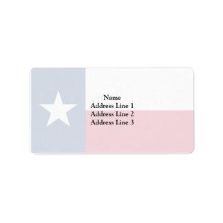 Texas, United States Address Label