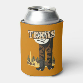 Texas USA Vintage Travel can cooler