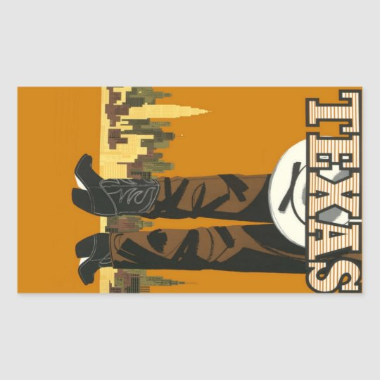 Texas USA Vintage Travel stickers
