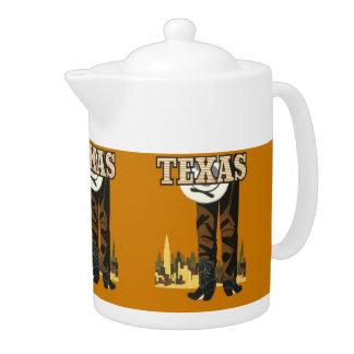 Texas USA Vintage Travel teapot