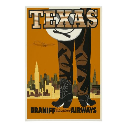 Texas - Vintage Travel Poster