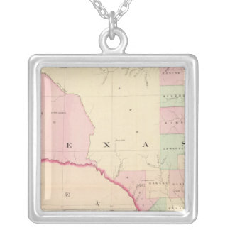 Texas W portion Silver Plated Necklace