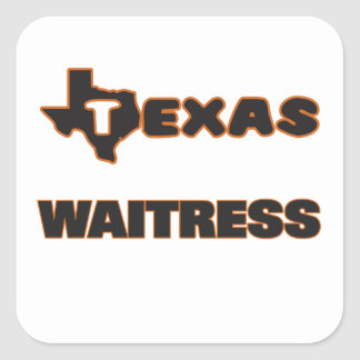 Texas Waitress Square Sticker