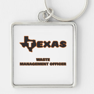 Texas Waste Management Officer Silver-Colored Square Key Ring