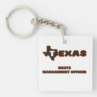 Texas Waste Management Officer Single-Sided Square Acrylic Keychain
