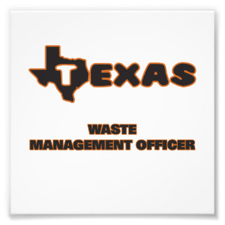 Texas Waste Management Officer Photo Print