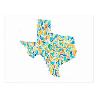 Texas Watercolor Customisable Postcard