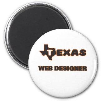 Texas Web Designer 6 Cm Round Magnet