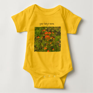 Texas wildflower baby bodysuit