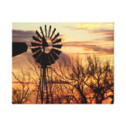 Texas windmill sunset canvas print