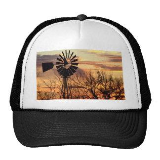 Texas windmill sunset cap