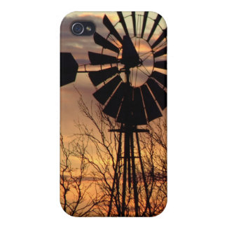 Texas windmill sunset case for the iPhone 4