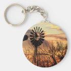 Texas windmill sunset key ring
