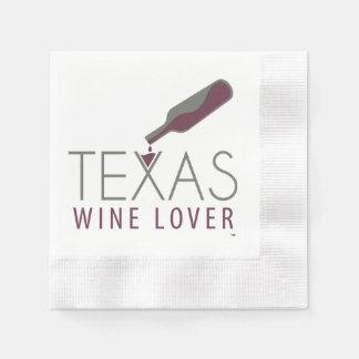 Texas Wine Lover Cocktail Napkin Paper Serviettes