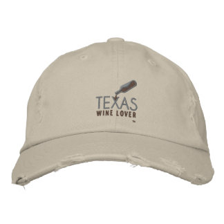 Texas Wine Lover Distressed Baseball Cap
