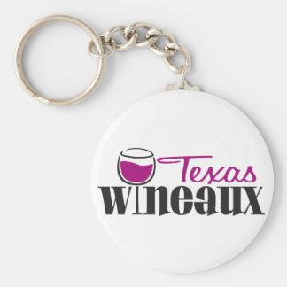 Texas Wineaux Basic Round Button Key Ring