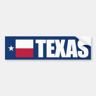 Texas with State Flag Bumper Sticker