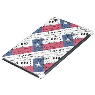 Texas Word-Cloud-with Texas Flag iPad Mini Covers