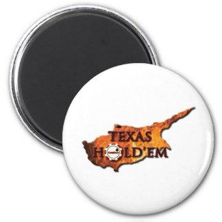 texasholdemCY 6 Cm Round Magnet